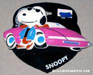 Joe Cool leaning on Pink Sportscar Barrette