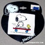 Snoopy & Woodstock on skateboard Barrette