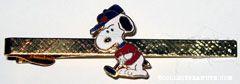 Snoopy Golfing Cloisonne Tie Clip