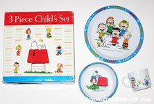 Peanuts Gang activities 3 piece dinnerware set