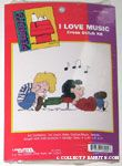 Schroeder and Lucy by Piano Cross-stitch Kit