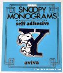 Snoopy with letter Y Plastic Monogram