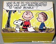 Snoopy headbeagle comic scene Music box