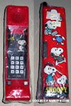 Snoopy and Woodstock with phones Red Phone Pencil Case
