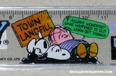 Snoopy & Linus on 'Town Landfill' Ruler