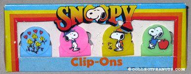 Snoopy & Woodstock in various poses Clip-ons