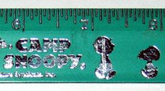 Peanuts Gang Silhouettes Camp Snoopy Ruler