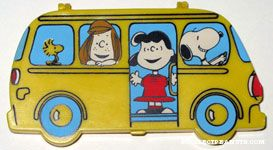 Snoopy driving bus with Peanuts characters Mini Pencil Case