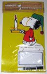 Snoopy in pjs holding candle Wood n' Wipe Offs Memo Board