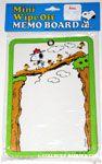 Beaglescout Snoopy & Woodstock on log bridge Mini Wipe Off Memo Board