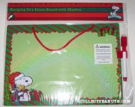 Snoopy with Woodstock in Christmas Gift Box Dry Erase Board