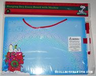 Snoopy & Woodstock on Christmas Decorated Doghouse Dry Erase Board