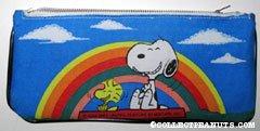 Snoopy & Woodstock Rainbow Pencil Case