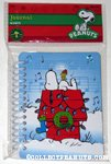 Snoopy & Woodstock on decorated doghouse Spiral-Bound Journal