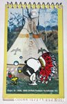 Native Snoopy & Woodstock outside teepee Spiral Notebook
