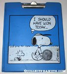 Snoopy & Woodstock in stadium blanket with 'Rah' signs Binder & Clipboard