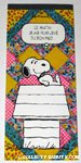 Snoopy on doghouse 'Ce matin je me suis leve du bon pied' notebook