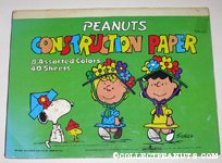 Snoopy, Woodstock, Lucy and Sally wearing hats Construction Paper Tablet