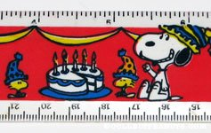 Snoopy and Woodstock Birthday Ruler