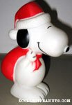 Santa Snoopy with sack dog squeak toy