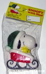 Santa Snoopy in Sleigh dog squeak toy