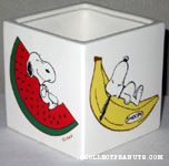 Snoopy on fruits Planter