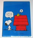 Snoopy looking at Woodstock on doghouse 'A Night out calls for a day in' Plaque