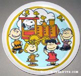 Peanuts Gang with Train Melamine Plate