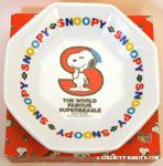 Snoopy standing in front of 'S' Ceramic Plate