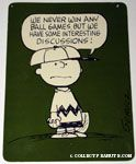 Charlie Brown as pitcher 'We never win any ball games, but we have some interesting discussions' Postcard