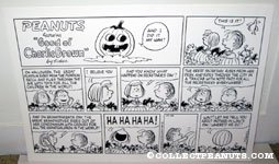 Peanuts Great Pumpkin Comic Strip Poster