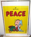 Linus with open gift 'Peace' Hallmark poster