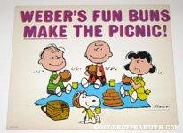 Peanuts Gang having a Picnic Sign