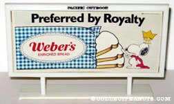 Snoopy the Prince 'Preferred by Royalty' Weber's Bread Billboard Mockup