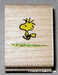 Woodstock walking in grass Rubber Stamp