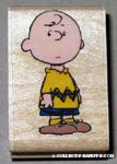 Charlie Brown standing Rubber Stamp