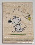 Snoopy dancing Rubber Stamp