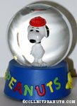 Snoopy wearing red hat Snowglobe