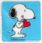 Snoopy holding heart Stickers