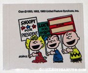 Charlie Brown, Sally & Linus with signs