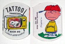 Peanuts & Snoopy Tattoo Transfers
