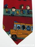 Peanuts gang at Bus Stop Necktie
