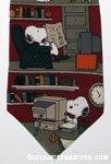 Snoopy & Woodstock doing chores Necktie