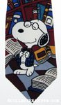 Nerdy Snoopy with Books Necktie
