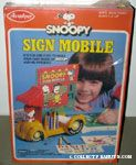 Snoopy Sign Mobil