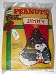 Snoopy & Woodstock with Christmas Tree Stocking Kit