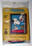 Snoopy listening to Woodstock singing on doghouse Needlepoint Kit