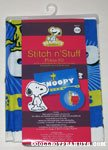 Snoopy & Woodstock 4 Pillow Stitch n' Stuff Kit
