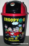 Peanuts Gang in Red VW Beetle Wastebasket