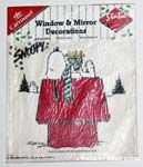 Snoopy with Woodstocks Static Stick-on Window Cling